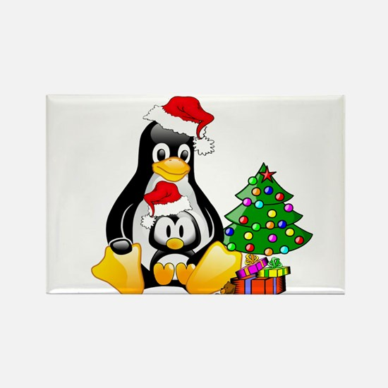 Its a Tux Christmas Rectangle Magnet
