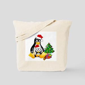 Its a Tux Christmas Tote Bag