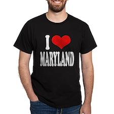 I Love Maryland Dark T-Shirt
