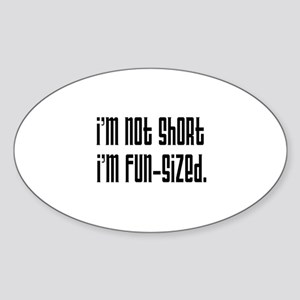 Fun-Sized Oval Sticker