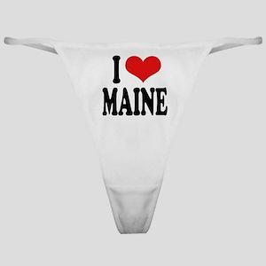 I Love Maine Classic Thong