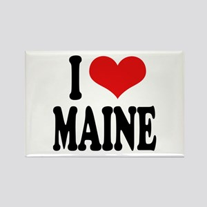 I Love Maine Rectangle Magnet