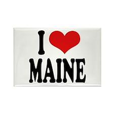 I Love Maine Rectangle Magnet