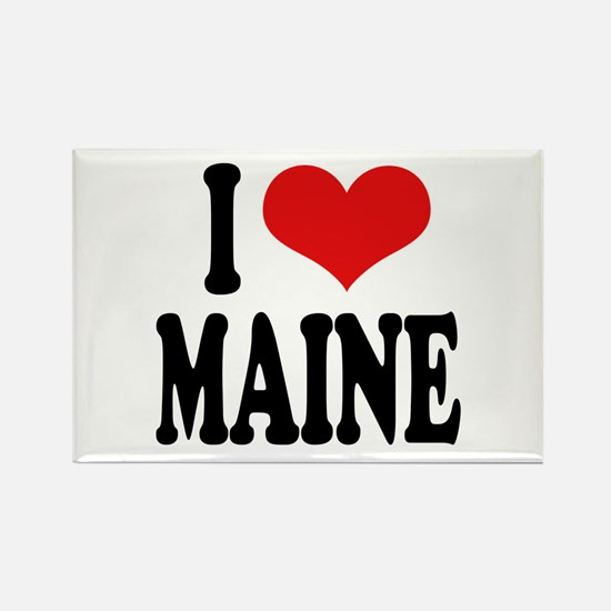 I Love Maine Rectangle Magnet (10 pack)