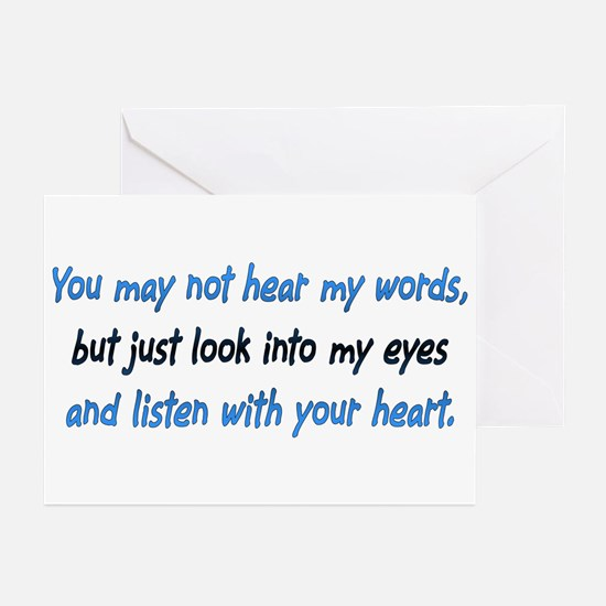 Listen Blue Greeting Cards (Pk of 10)