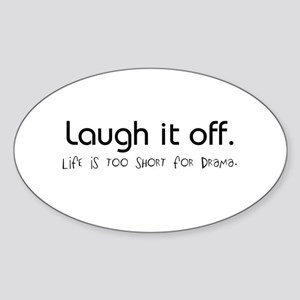 Live. Laugh. Oval Sticker