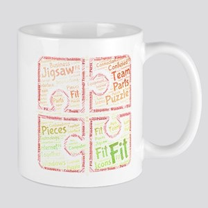 jigsaw puzzle pieces confused windows togethe Mugs