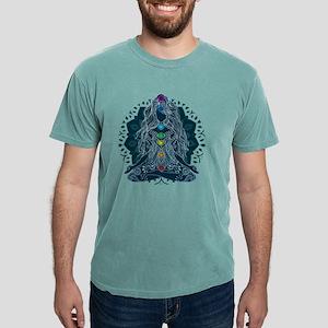Yoga Girl Pose Blue T-Shirt