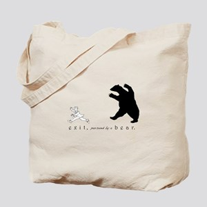 Exit, Pursued By A Bear - Tote Bag