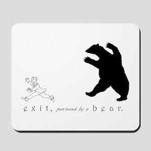 Exit, Pursued By A Bear - Mousepad