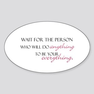 Romance is Everything Oval Sticker