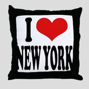 I * New York Throw Pillow