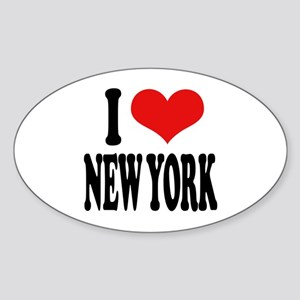 I * New York Oval Sticker