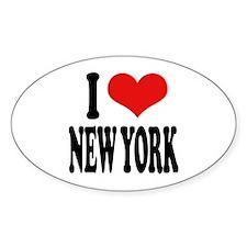 I * New York Oval Sticker
