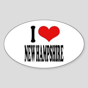 I Love New Hampshire Oval Sticker