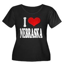 I Love Nebraska Women's Plus Size Scoop Neck Dark