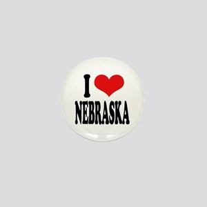 I Love Nebraska Mini Button