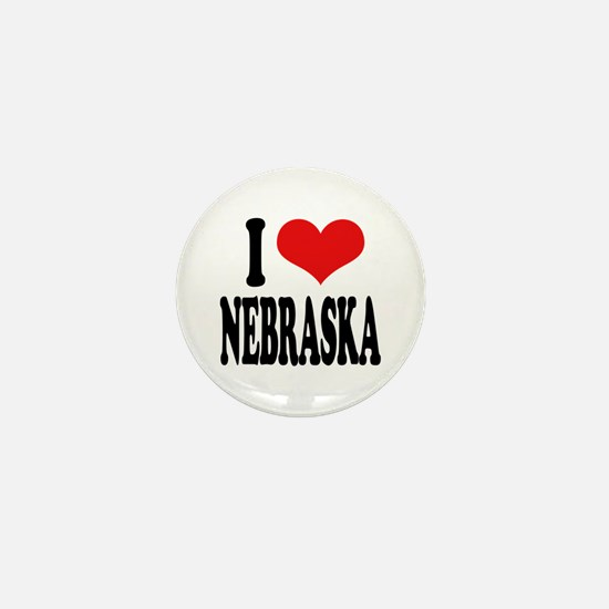 I Love Nebraska Mini Button
