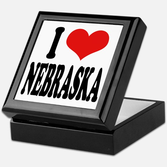 I Love Nebraska Keepsake Box
