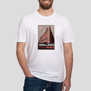 Hotel de Paris France Fitted T-Shirt
