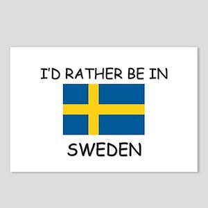 I'd rather be in Sweden Postcards (Package of 8)