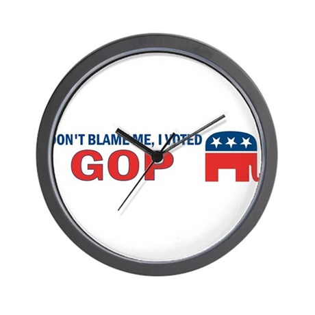 Don't Blame Me I Voted Republ Wall Clock