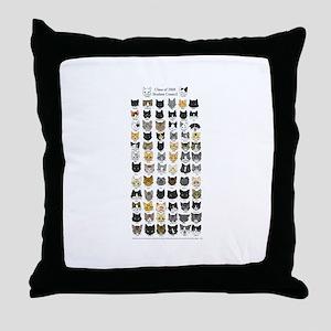 Great Kitty Rescue Throw Pillow