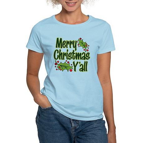 Merry Christmas Y'all Women's Light T-Shirt