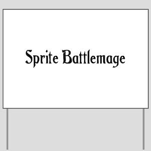 Sprite Battlemage Yard Sign