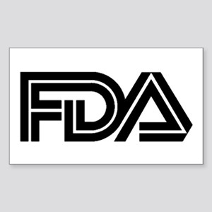 FDA Logo - Rectangle Sticker
