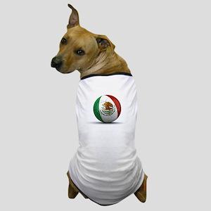 Soccer Ball w/Mexican Flag Dog T-Shirt