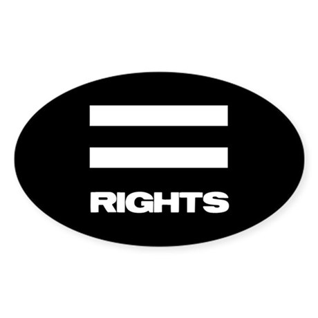EQUAL RIGHTS - Oval Sticker