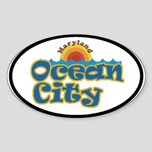 Ocean City MD Oval Sticker