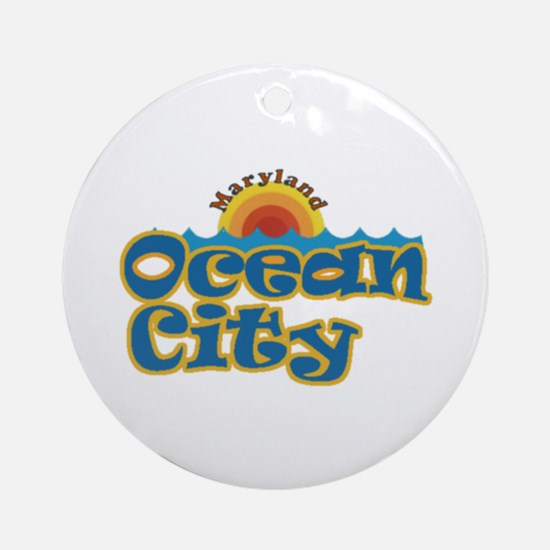 Ocean City MD Ornament (Round)