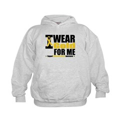 I Wear Gold Ribbon For Me Hoodie