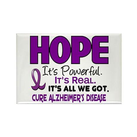 HOPE Alzheimer's Disease 1 Rectangle Magnet (10 pa