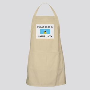 I'd rather be in Saint Lucia BBQ Apron