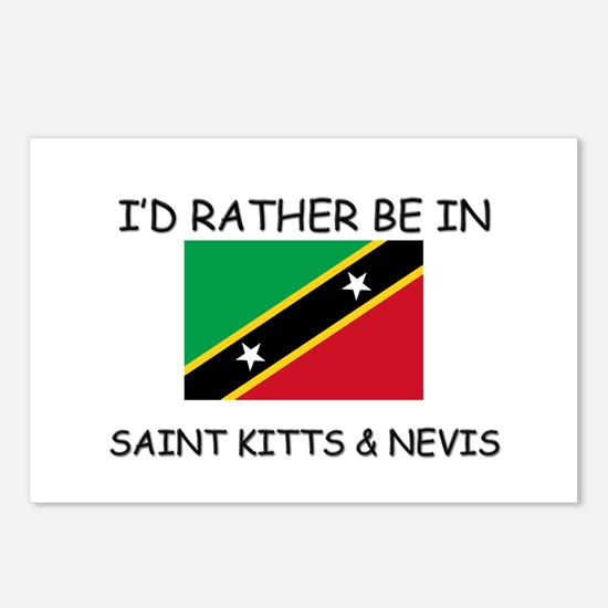 I'd rather be in Saint Kitts & Nevis Postcards (Pa