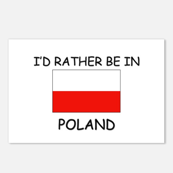 I'd rather be in Poland Postcards (Package of 8)