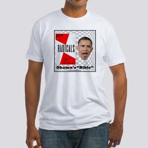 """Obama's Bible"" Fitted T-Shirt"
