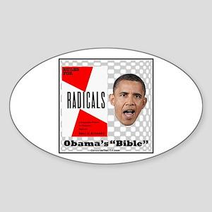 """Obama's Bible"" Oval Sticker"