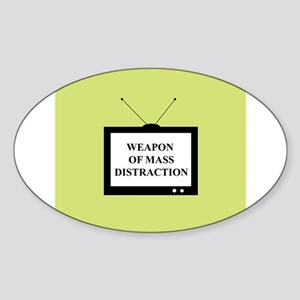 Weapon of Mass Distraction Oval Sticker
