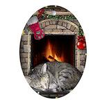 "Oval Ornament ""Christmas Dreams"""