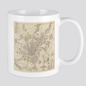 Vintage Map of Cincinnati Ohio (1915) Mugs