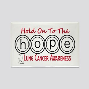 HOPE Lung Cancer 6 Rectangle Magnet