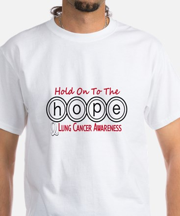 HOPE Lung Cancer 6 White T-Shirt