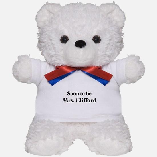Soon to be Mrs. Clifford Teddy Bear