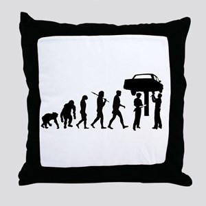 Auto Mechanic Throw Pillow