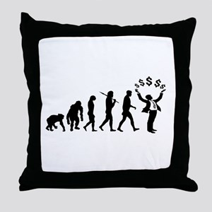 Finance Investing Banking Throw Pillow