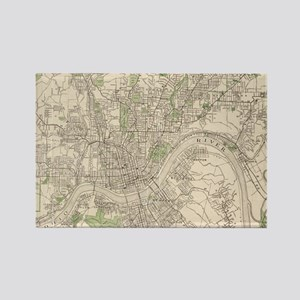 Vintage Map of Cincinnati Ohio (1915) Magnets